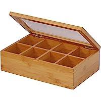 Oceanstar TB1323 Bamboo Tea Box, Natural