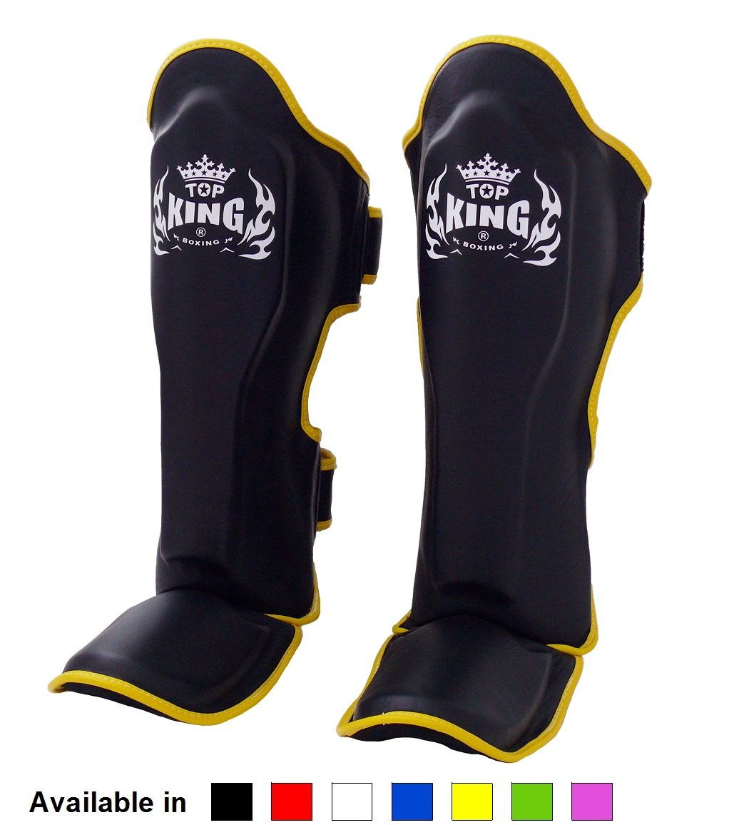 Top King Shin Guards - Muay Thai Top King Shin Pads TKSGP GL Pro Genuine Leather