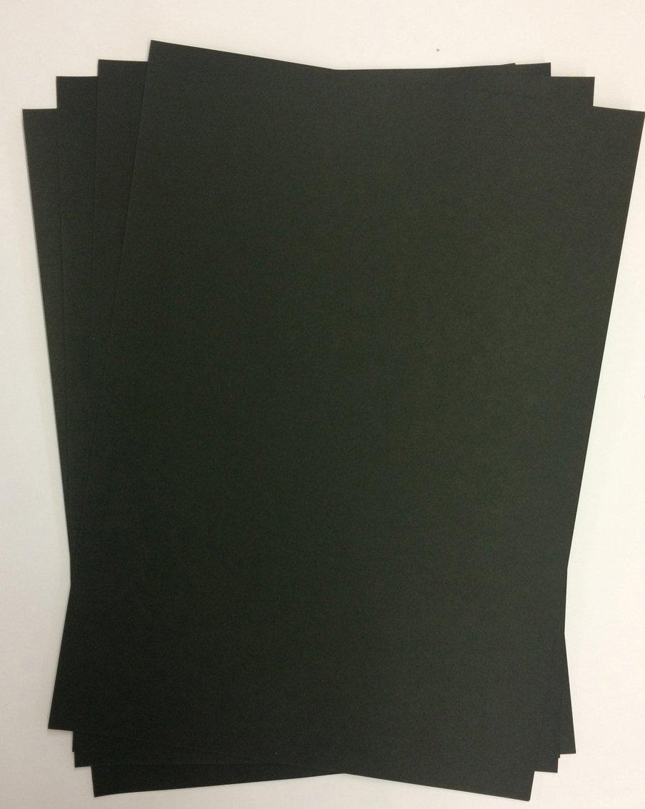 50 hojas de papel DIN A3 Negro 400 g/msup2;, caja de Top Lamination – Completo teñida, de uso: invitaciones, plantilla hojas para álbumes, tarjetas de boda, álbum de fotos, manualidades y mucho más