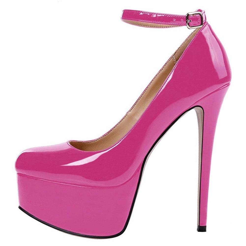 EKS - Zapatos de vestir para mujer 37 EU Rose