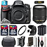 Holiday Saving Bundle for D610 DSLR Camera + 18-140mm VR Lens + 64GB Class 10 Memory Card + 2yr Extended Warranty + 32GB Class 10 Memory + Backup Battery + Case + Tulip Lens - International Version