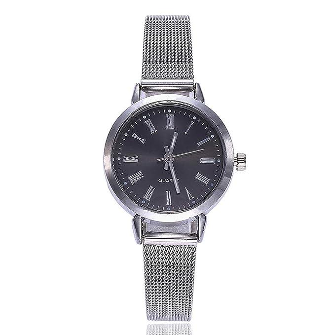 BBestseller Reloj para Mujer, Reloj de Cuarzo, Impermeable Retro Relojes de Pulsera Cinturón de Malla Wristwatch (Blanco): Amazon.es: Relojes