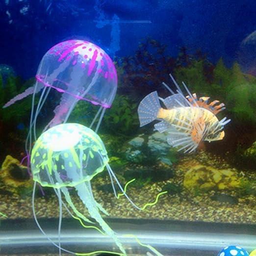 MAXGOODS Decoración Acuario/ Tanque Medusa Multicolor Artificial: Amazon.es: Jardín