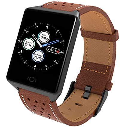 Fitness Tracker, Pard Men/Women Fashion Smart Watch, Heart Rate/Blood Pressure/Sleep Monitor for iPhone Xs XR and Android Samsung Phones, Brown