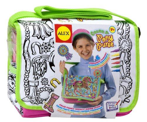 ALEX Toys Craft Color a Bag & Accessories Color A Pony Purse ()
