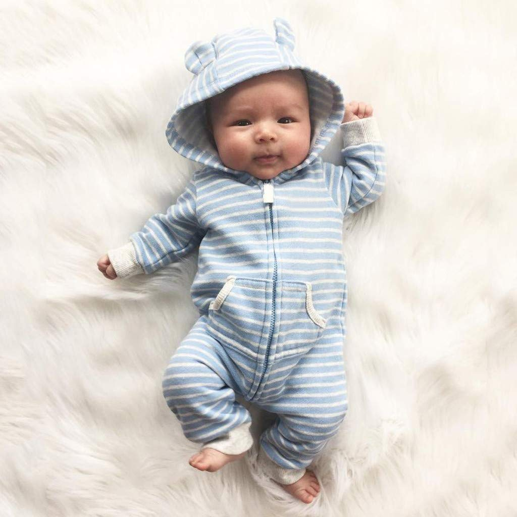 Divertido Pijama con Capucha,K-Youth Pelele Bebe Ni/ño Invierno Ropa Bebe Ni/ña Recien Nacida Ropa de Dormir Unisex Body Bebe Ni/ña Bodies para Ni/ñas Mameluco Infantil Ni/ños Mono
