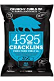 4505 Sea Salt Cracklins, All-Natural Fried Pork Curly Q's, Family Size Bag, 7oz