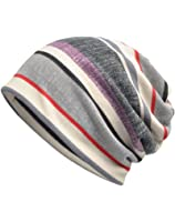 Luccy K Women's Striped Beanie Chemo Cap for Cancer Patients