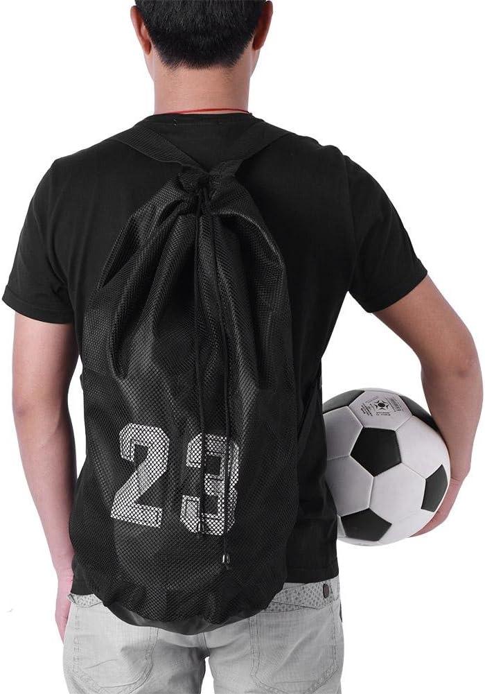 entra/înement de Sport de Football de Football de Basket-Ball exer/çant Le Sac de Cordon d/épaule de Sac /à Dos Zyyini Sac de Ballon