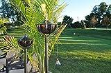 Starlite Garden and Patio Torche Maui Grande Garden Black Nickel Torch (Set of 2), Pewter For Sale
