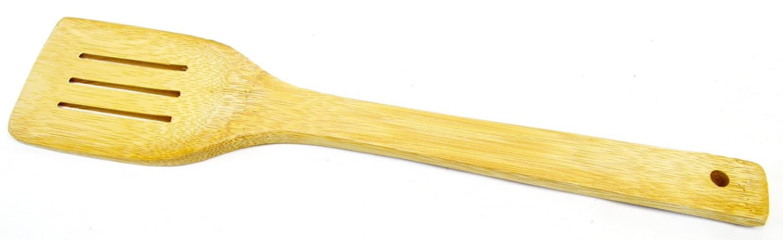 Cuchara de bamb/ú Set 3/Piezas Esp/átula Madera horquilla Utensilios de cocina aprox 31/cm de largo