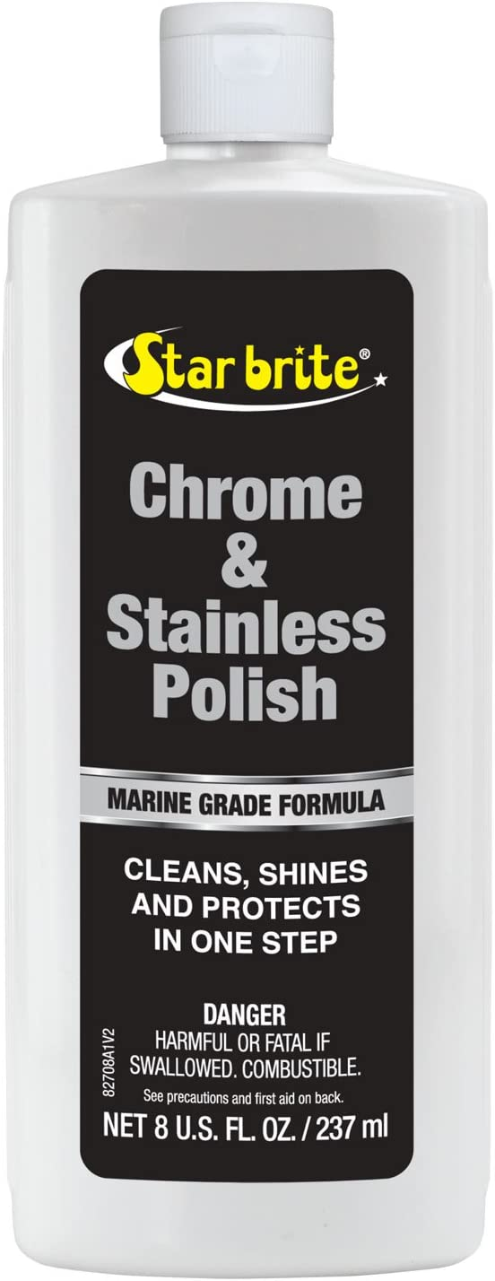 Star Brite Marine Grade Chrome & Stainless Steel Cleaner, Polish & Protectant