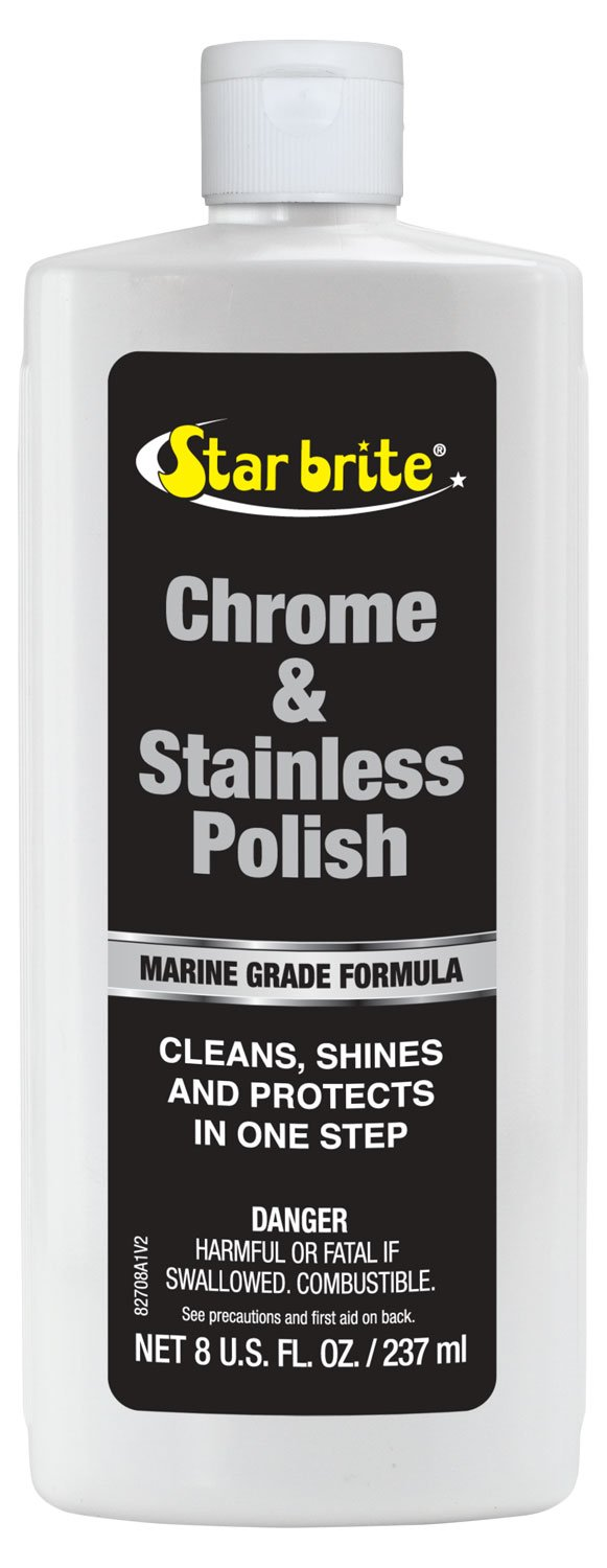 Star brite Chrome & Stainless Steel Cleaner, Polish & Protectant 8 oz