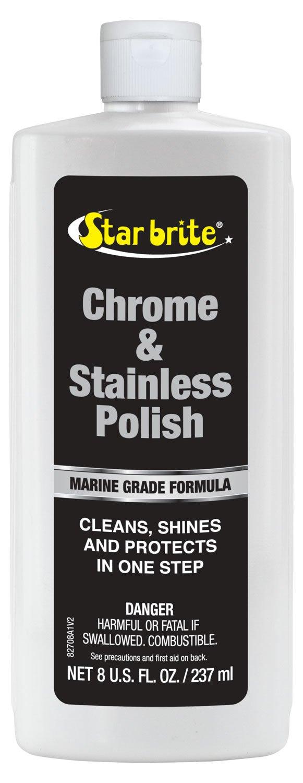 Star brite Chrome & Stainless Steel Cleaner, Polish & Protectant 8 oz