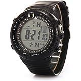 HARRYSTORE Men's LCD Digital Stop watch Date Waterproof Rubber Sport Wrist Watch with Alarm
