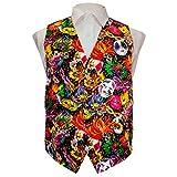Mardi Gras Colorful, Vibrant Party Mask Vest Set