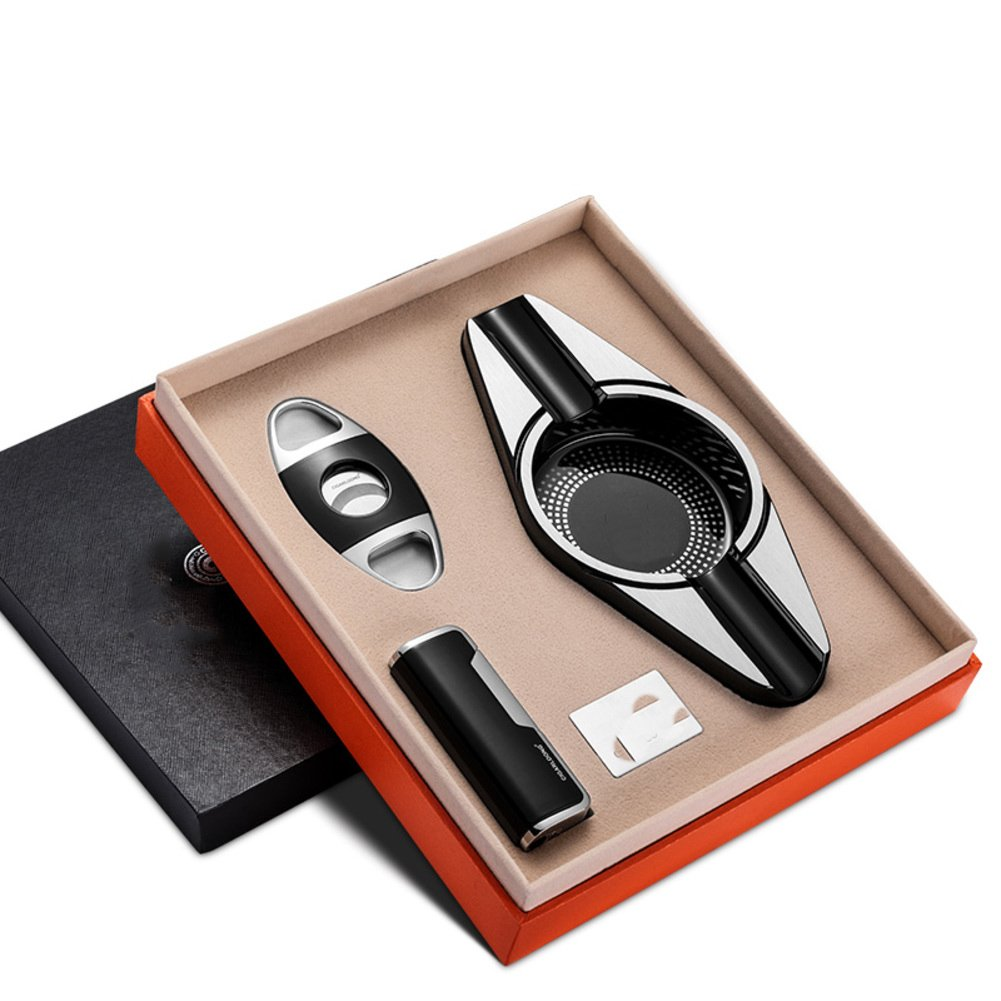 Cigar Ashtray Set,Cigar Scissors Cigar Tube Beautiful Gift For Father Boyfriend