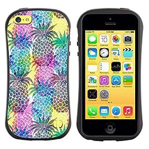 Suave TPU GEL Carcasa Funda Silicona Blando Estuche Caso de protección (para) Apple Iphone 5C / CECELL Phone case / / Pineapples Colorful Fruit /