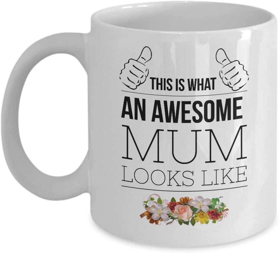 Tazas para mamá, mamá, regalo para esposa, suegra, amor, divorciado, regalo divertido, taza de té, humor para su Navidad, mujeres, mujeres, día de los padres materno, esto es lo que se ve como