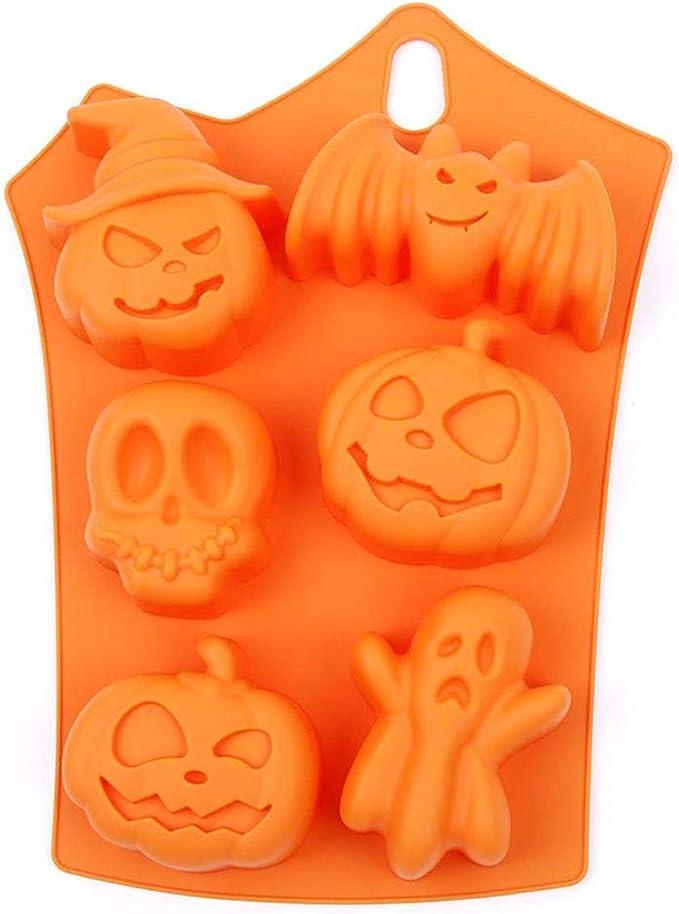 eiseyen silicona Formas, halloween DIY jabón Molde Jelly Ice ...