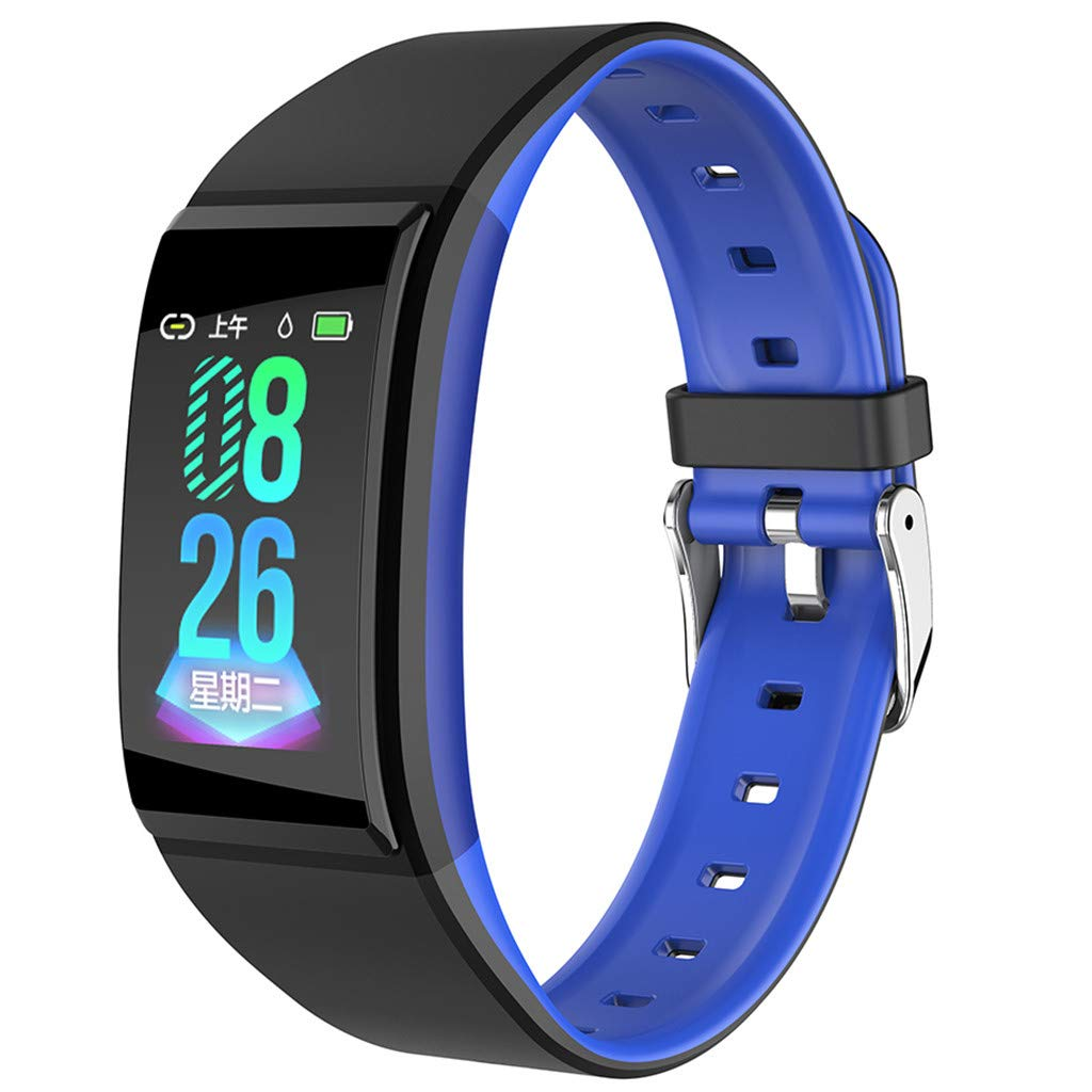 FEDULK Sports Wristband Smart Watch Heart Rate Blood Pressure Healthy Monitoring Android iOS Smartwatch(Blue) by FEDULK