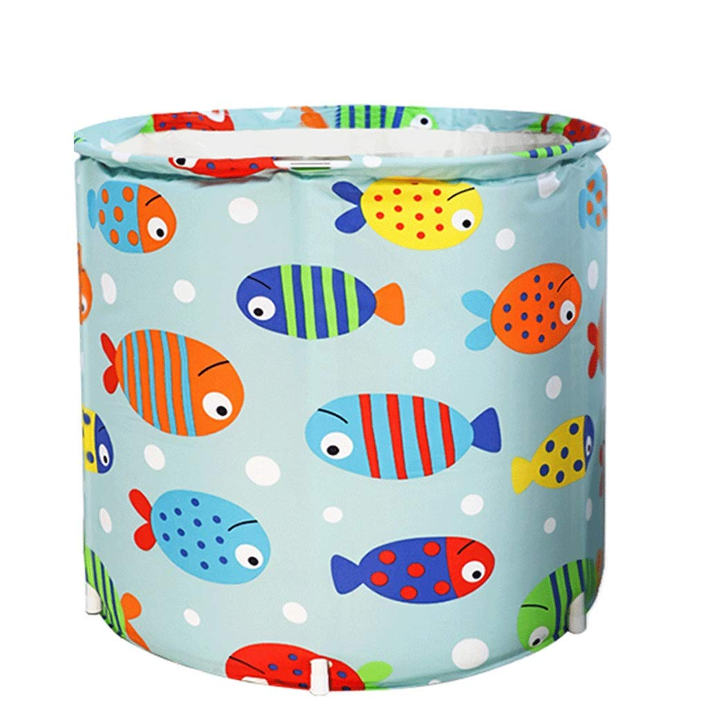 YONGYONG Three-Layer Thickened Adult Bath Barrel Household Foldable PVC Bath Barrel 65CM * 70CM (Color : B, Size : 65CM*70CM)