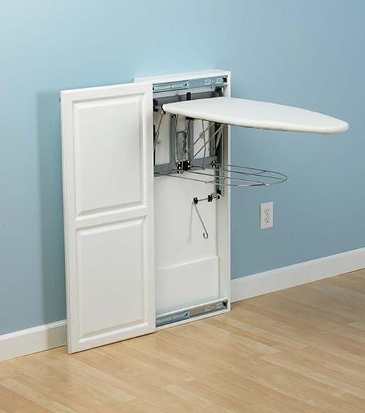 StowAway White Wood Cabinet Wall Mounted Ironing Board: Amazon.co.uk:  Kitchen U0026 Home