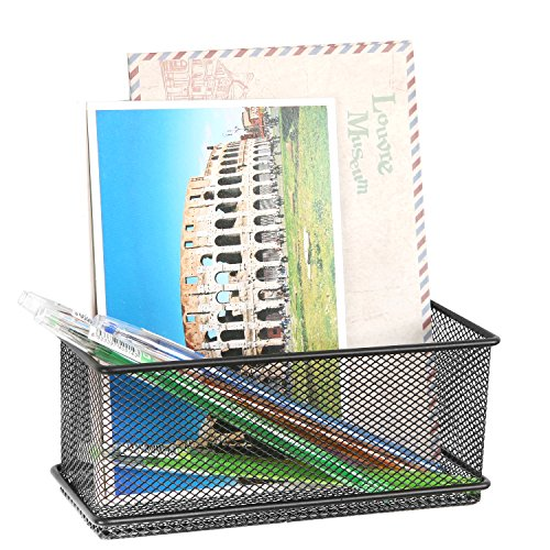 Black Wire Mesh Magnetic Basket Storage Tray, Office Whiteboard Supply Accessory Organizer free shipping