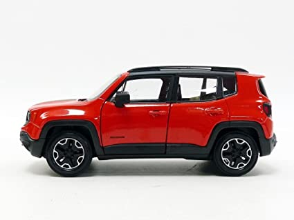 Jeep Renegade Orange >> Welly Jeep Renegade Trailhawk Orange 1 24 1 27 Diecast Model Car