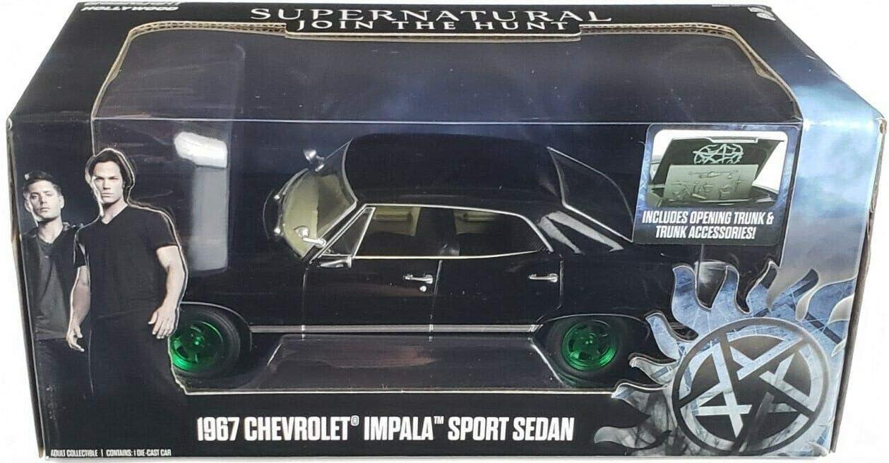 Greenlight Hollywood INC Chevrolet Impala Sport Sedan Supernatural 1//24 Version Chase Jantes Vertes