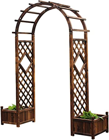 XLOO Estaca de Patio de Plantas trepadoras, pérgola de Enrejado al Aire Libre, Arco con macetas,