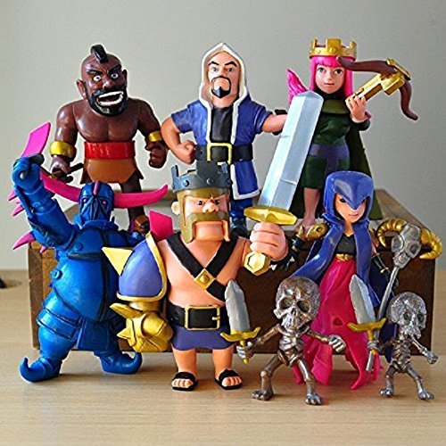 Shalleen 8Pcs Set Phone Game Coc Figures Supercell Model Clash Royale Action Figures Gift