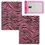 Quality Book Style, Pink Zebra Animal Print Vangoddy Brand Mary Collection Leather -ette Portfolio Cover Cases for All Models of the iRulu 9 Inch Playbook Android 4.0 Tablet PC + 10 Inch Tablet Waterproof Bag Case