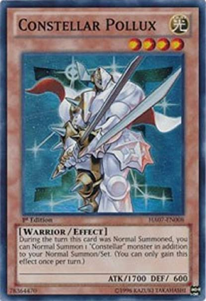Amazon Com Yu Gi Oh Constellar Pollux Ha07 En008 Hidden Arsenal 7 Knight Of Stars 1st Edition Super Rare Toys Games