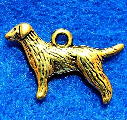 10Pcs. Tibetan Antique Gold 2-Sided Setter Dog Charms Pendants Earring Drops D44 Jewelry Making Supply Pendant Bracelet DIY Crafting by Wholesale - Ring D44