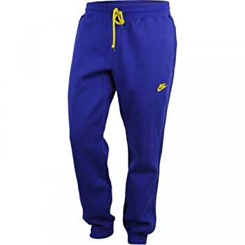 841a7035ab5 Nike Men's Fleece Tracksuit Trousers Cobalt Blue/Yellow, Blu Cobalto/Giallo