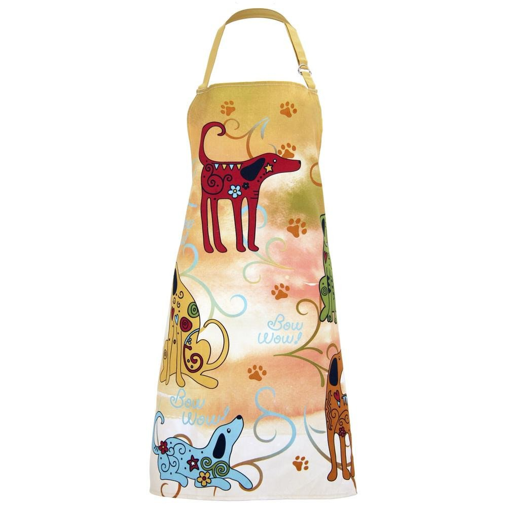 Whimsical Animals Pet Lovers Cute Kitchen Apron (Dog)