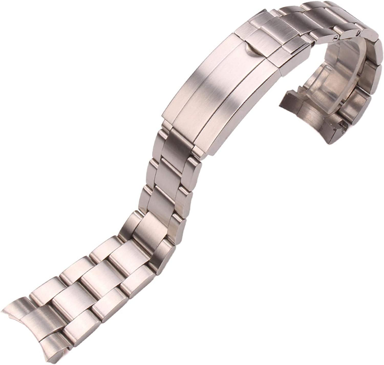 Meaningg Edelstahl Uhrenarmb?nder 20mm Silber Geb¨¹rstet
