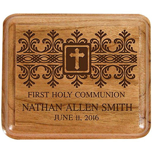 LifeSong Milestones Personalized 1st Holy Communion Keepsake Box Custom Sacraments Baptism -