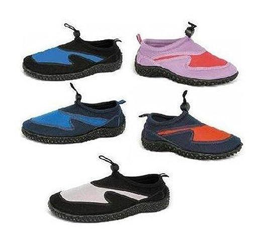Adults Toggle Front Aqua Shoes