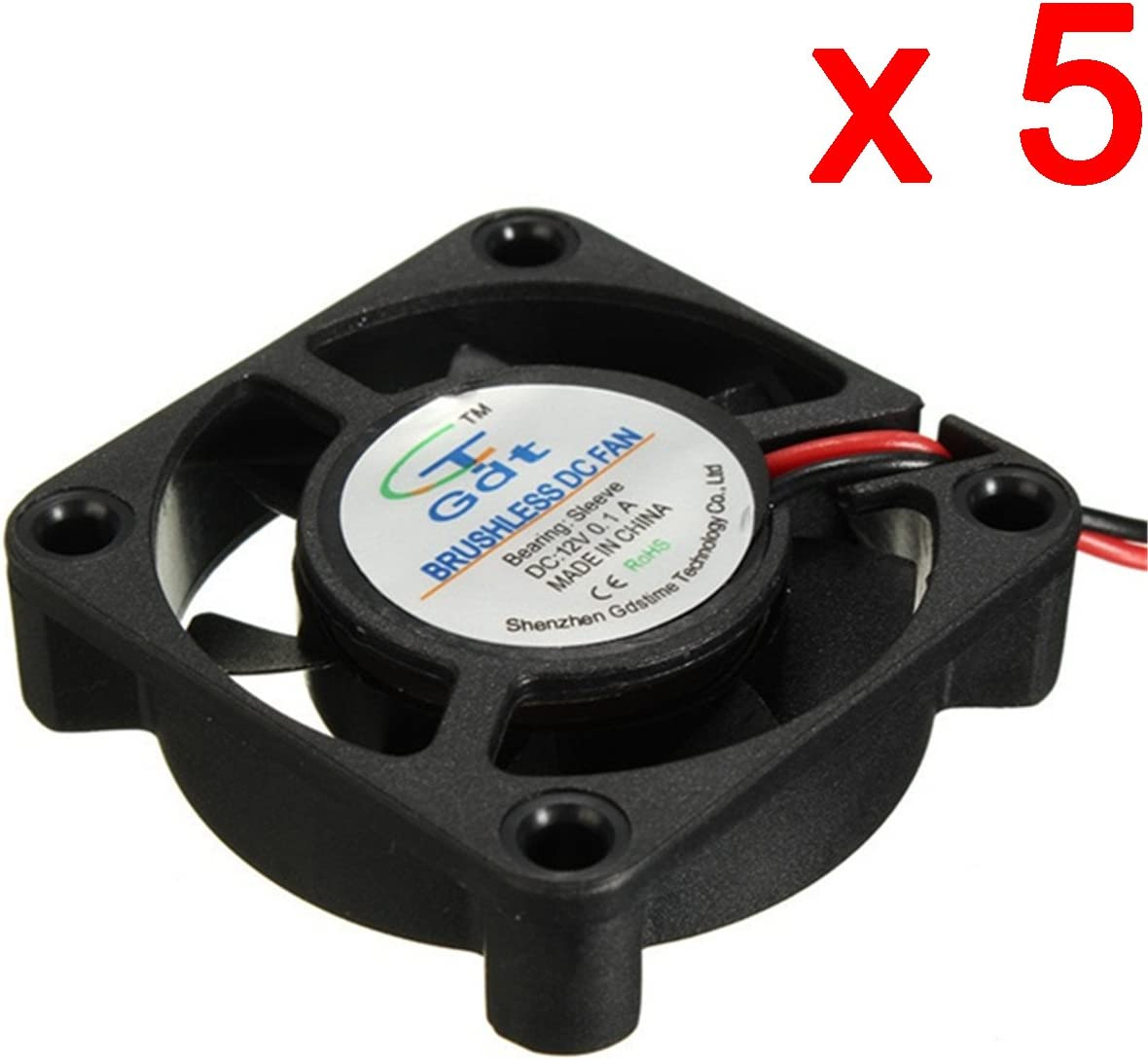 DAOKI 5 PCS 12V 404010mm Cooling Fan for 3D Printer Parts Reprap Prusa I3