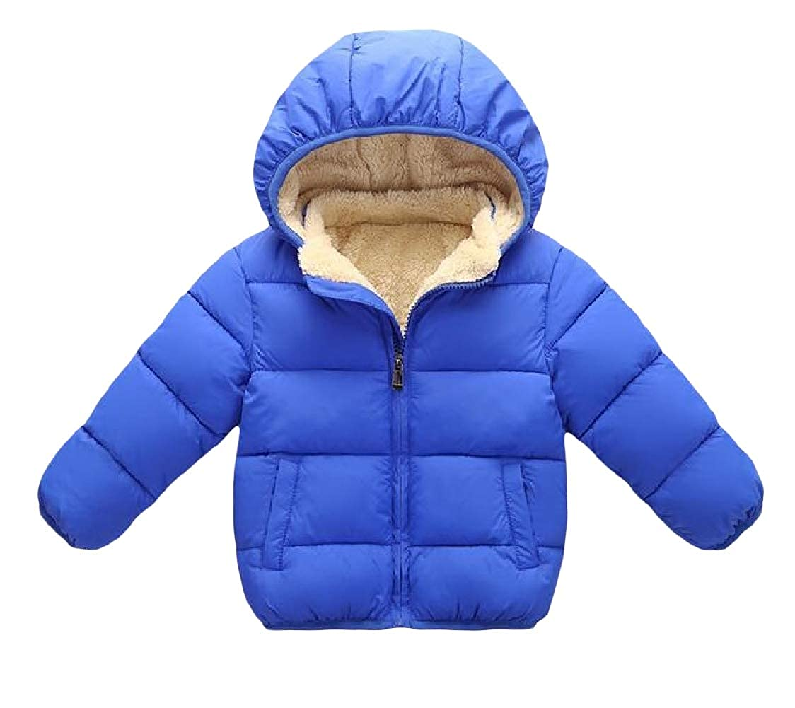 pipigo Boysand Girls Fleece Lined Puffer Winter Hooded Warm Parkas Coats Jacket