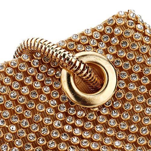 Bag Party Ibella Rhinestone Purse Silver Rhinestones Wedding Clutches Women's Evening Bags Clutch Prom 55aq0w1r