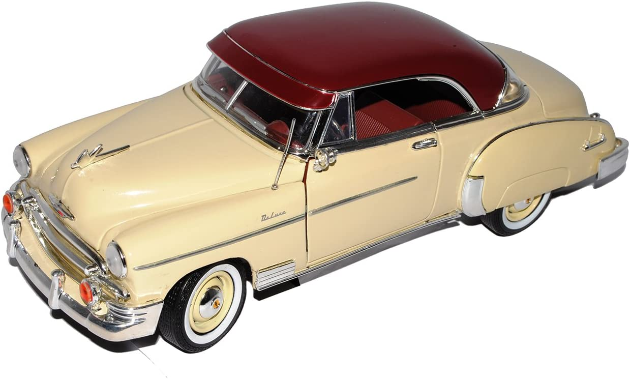 Motormax Chevrolet Chevy Bel Air 1950 Coupe Gelb Beige Oldtimer 1 18 Modellauto Modell Auto Spielzeug