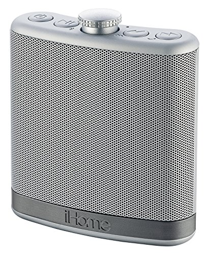 iHome iBT12SC Rechargeable Flask Shaped Bluetooth Stereo Speaker - Leather White Digital Player Case