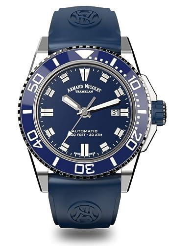 Armand Nicolet A480AGU-BU-GG4710U JS9 - Reloj de Pulsera para Hombre (Fecha