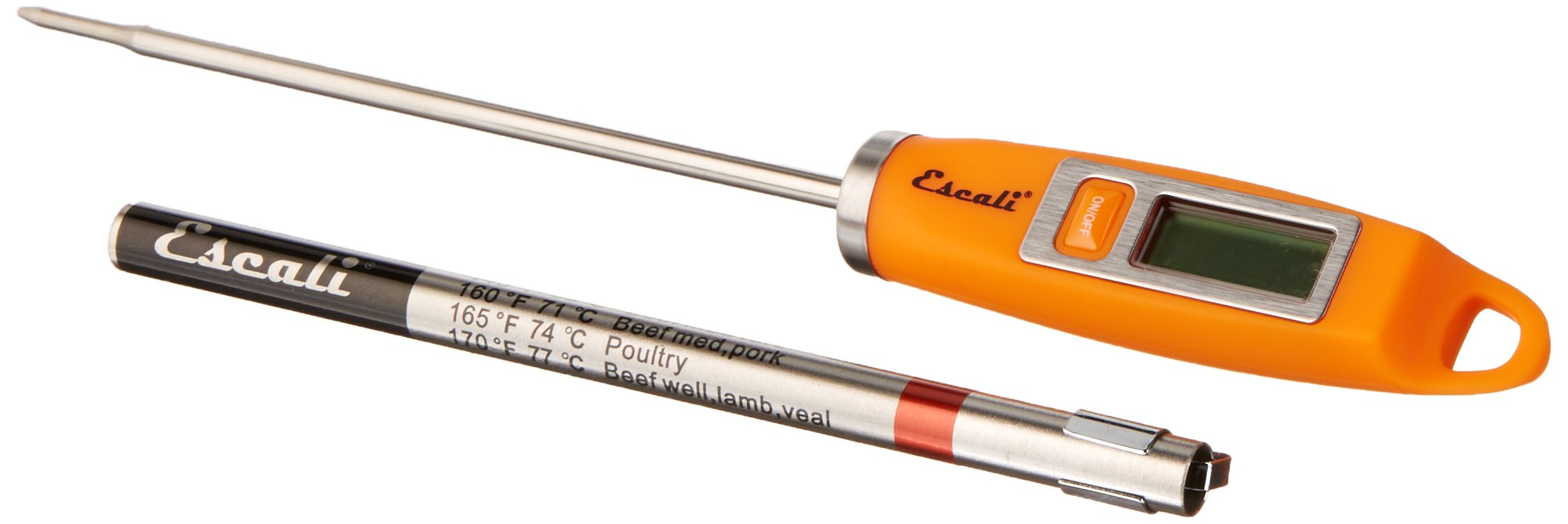 Escali DH1-O NSF Listed Gourmet Digital Thermometer, Orange