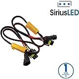 SiriusLED 9005 H10 9145 50W 6 Ohm LED Lights Load Resistor Adapter Fix Hyper Flashing Blinking Canbus Error Warning Eliminator Canceller for Fog Lights Daytime Running DRL
