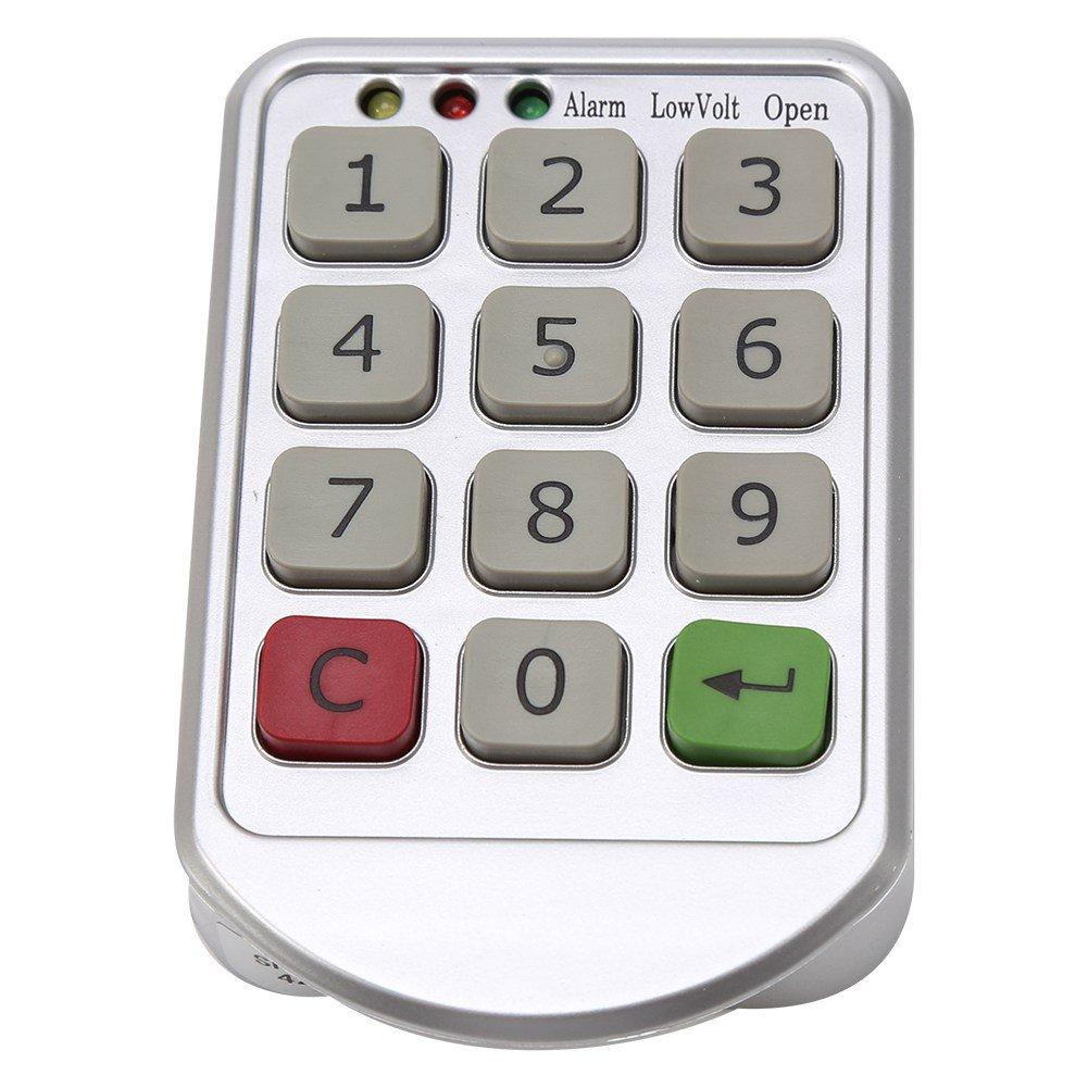 Intelligent Code Locks Exquisite Digital Electronic Password Keypad Number Cabinet Door Code Locks with Plastic Lock Panel