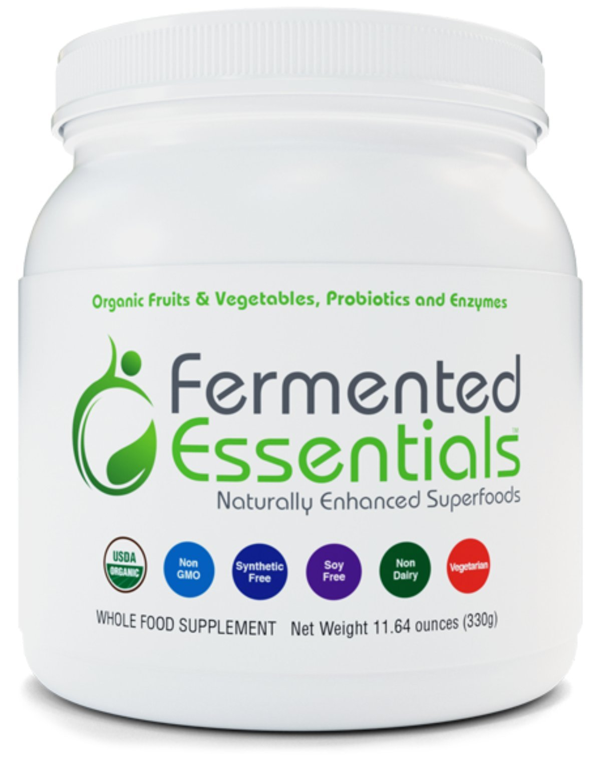 Fermented Essentials ™ - Naturally Enhanced Superfoods (330g) World's First Organic, Fermented Whole-Food Supplement